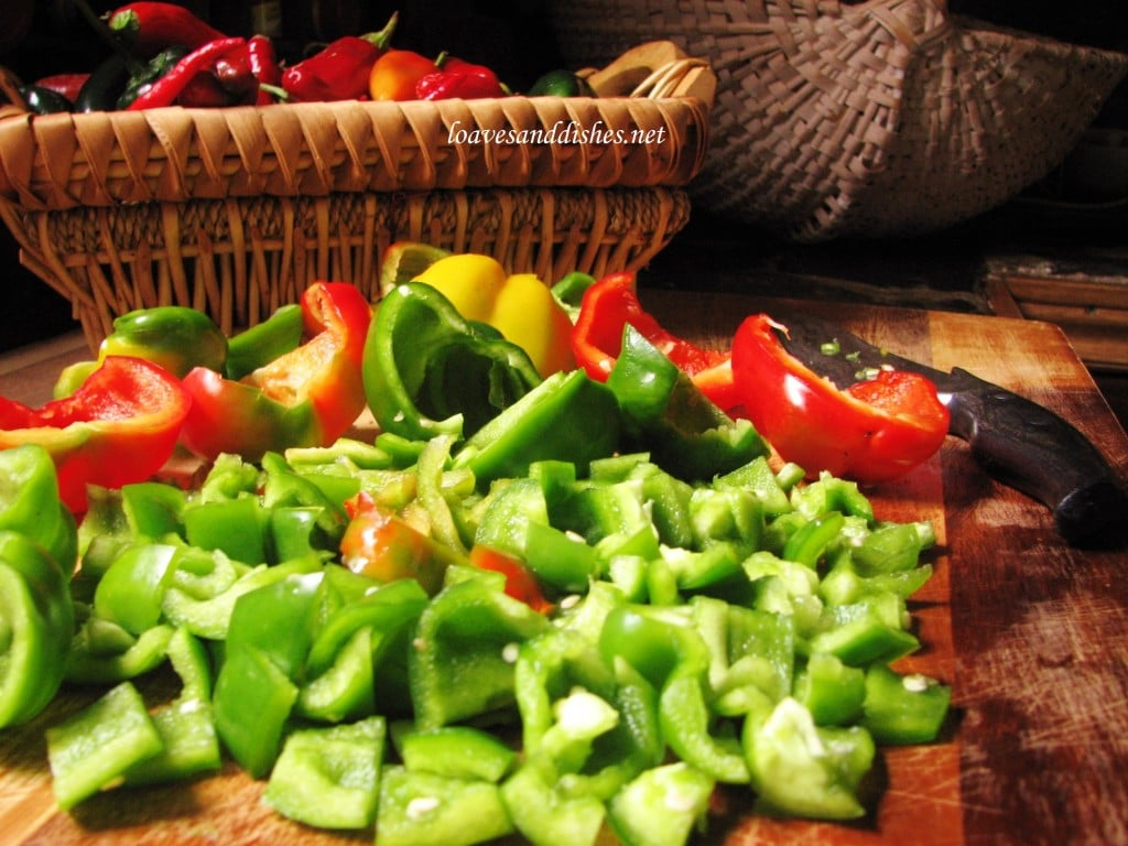 Cut Pepper Pieces at loavesanddishes.net