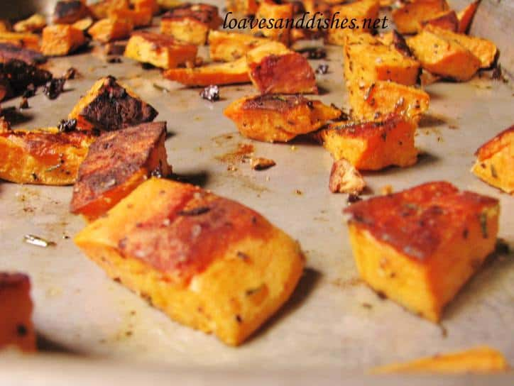 Roasted Garlic Rosemary Sweet potatoes