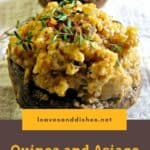 Quinoa and Asiago Stuffed Mushrooms