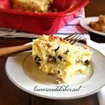 White Mushroom Spinach Lasagna