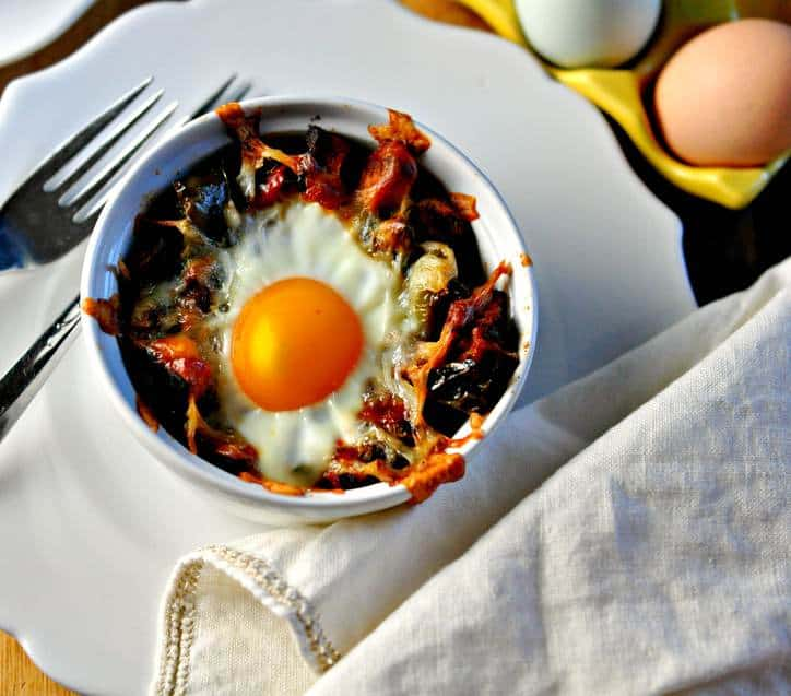 Sweet Potato Hashbrown Breakfast Bake  @loavesanddishes.net