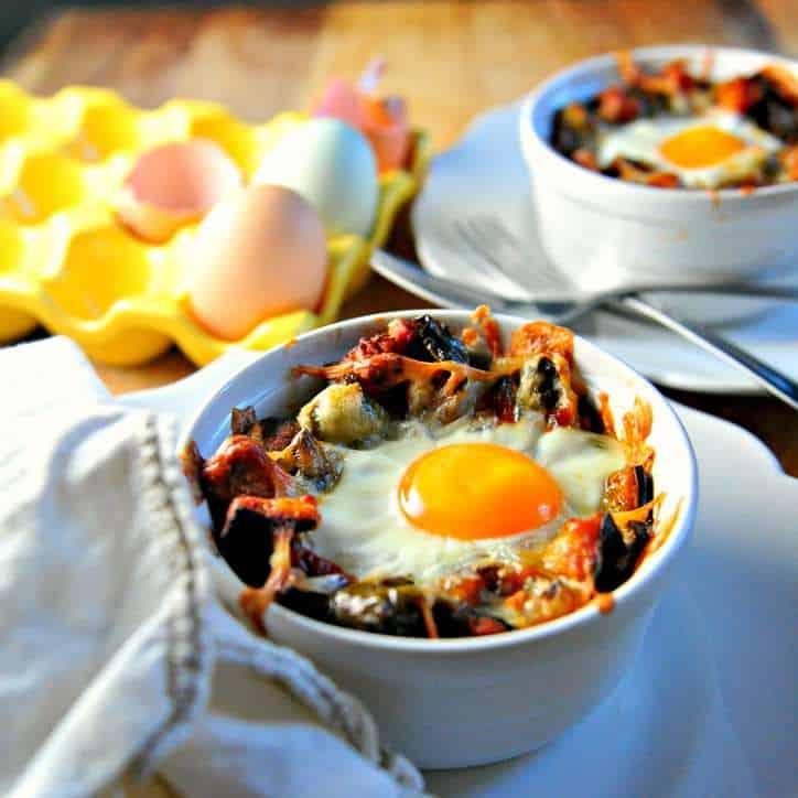 Sweet Potato Hashbrown Breakfast Bake @loavesanddishes.net