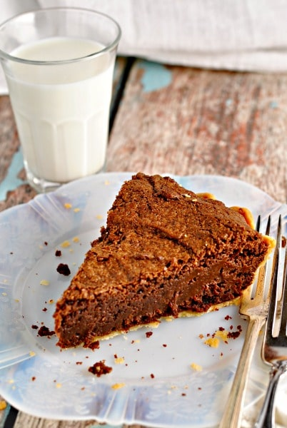 Fudge Pie with Salted Caramel Sauce @loavesanddishes.net