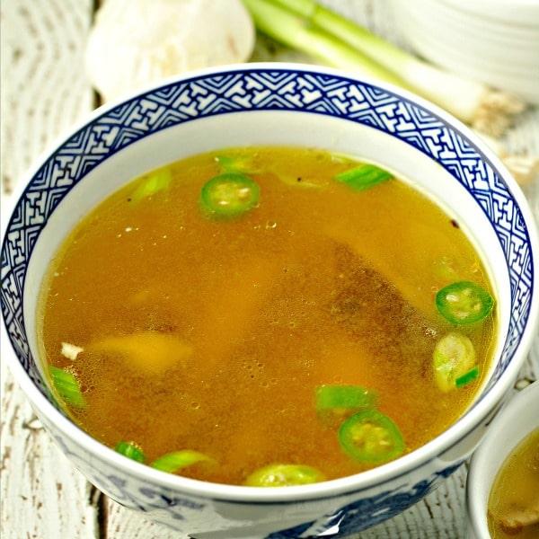Roasted Chicken, Shiitake and Jalapeno Soup loavesanddishes.net
