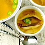 Roasted Chicken,Shiitake and Jalapeno Soup