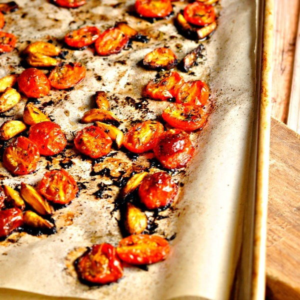 Roasted Tomato and Garlic Quiche @loavesanddishes.net
