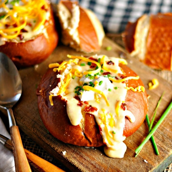 The Best Potato Cheese Soup @loavesanddishes.net