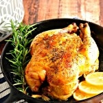How to Roast a Chicken in the Crockpot@loavesanddishes.net