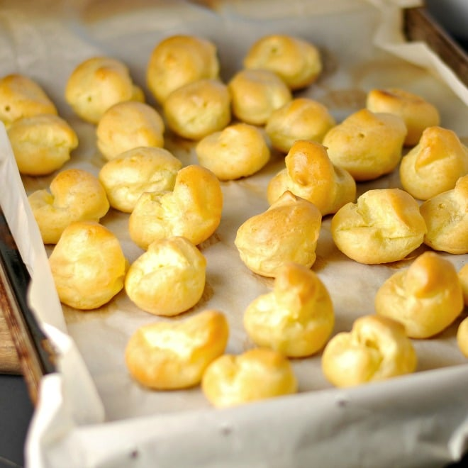 Cream Puff with espresso Cream Filling Loavesanddishes.net