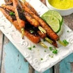 Vindaloo Curry Spiced Carrots @loavesanddishes.net