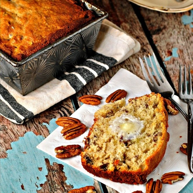Banana Pecan Bread @ loavesanddishes.net