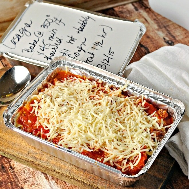 Easy Gift Lasagna @loavesanddishes.net