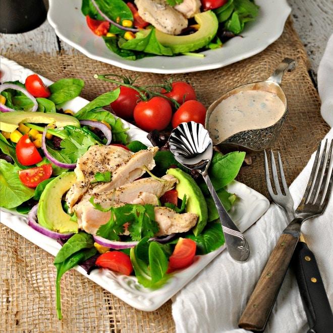southwest chicken salad @loavesanddishes.net