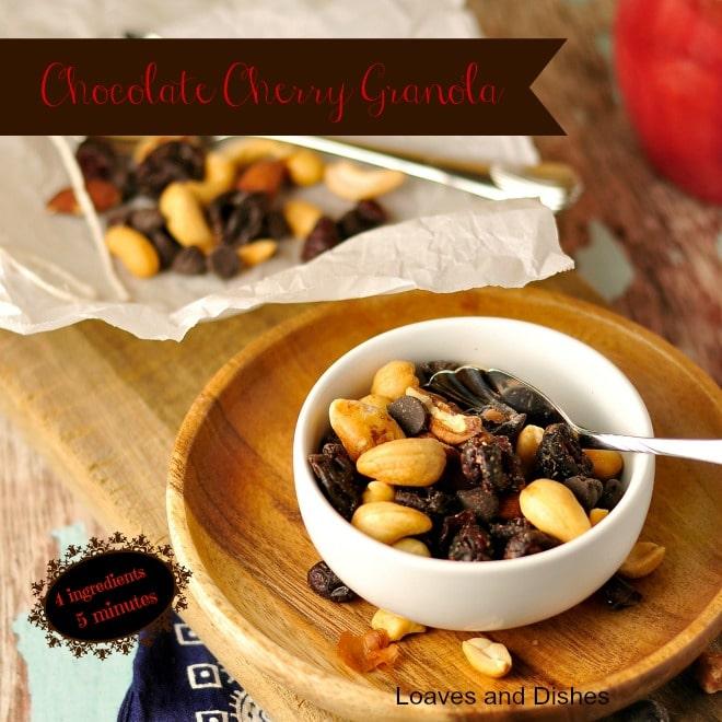 Chocolate Cherry Granola @loavesanddishes.net