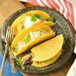 Easy Crockpot Taco Chicken @loavesanddishes.net