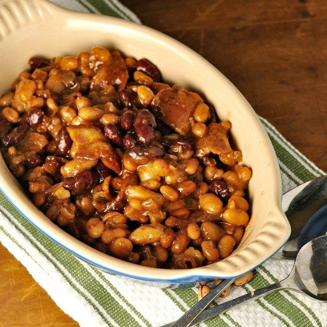 Clays Famous Three Bean Casserole - Loaves and Dishes