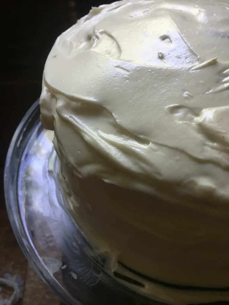 a photo of the finished cake Southern Carrot Cake with Cream Cheese Icing