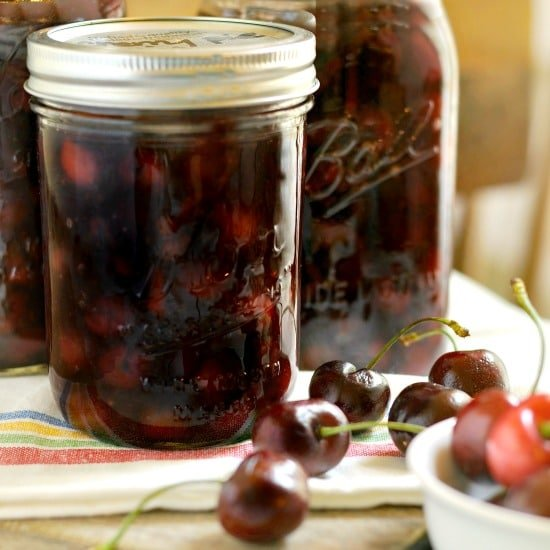 How to make and can cherry pie filling @loavesanddishes.net