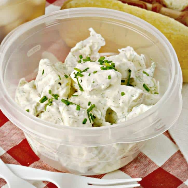 Garlic Dill Potato Salad @loavesanddishes.net