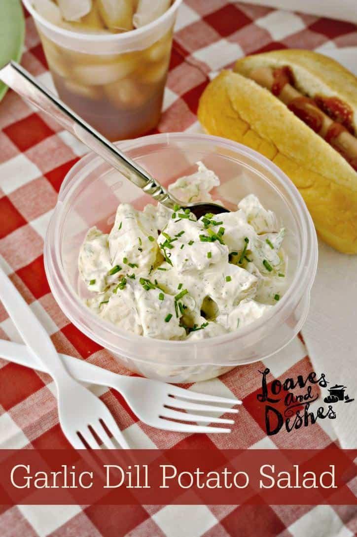 Garlic Dill Potato Salad @loavesanddishes.net