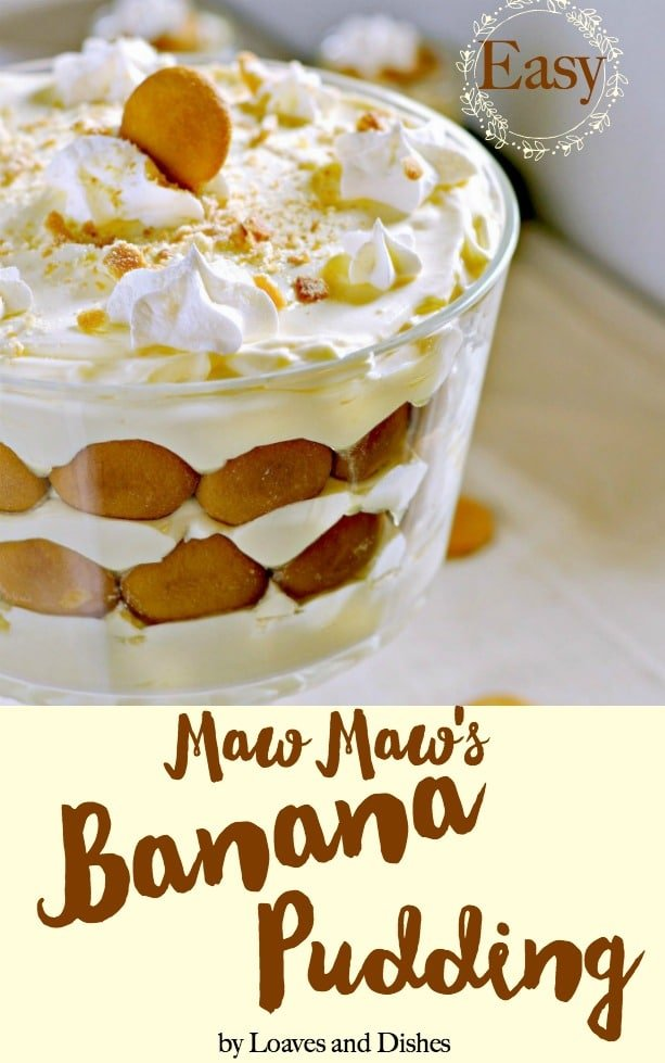 The easiest and best simple homemade southern banana pudding recipe from maw maw's recipe box. From scratch and old fashioned using nilla wafers and sour cream and something like Paula Deen or the Pioneer Woman would make. Made with cool whip and is no bake. So easy you won't believe it!