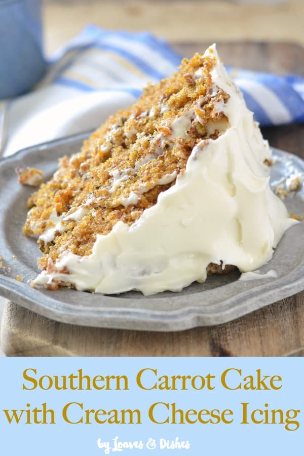 Easy recipe for simple carrot cake from scratch.  This is the best and most moist carrot cake that you will ever make and includes photo instructions.  Like Pioneer Woman or Paula Deen would make #carrotcake #creamcheesefrosting #creamcheeseicing #howtomakecarrotcake #moistcarrotcake #easycarrotcake #southerncarrotcake
