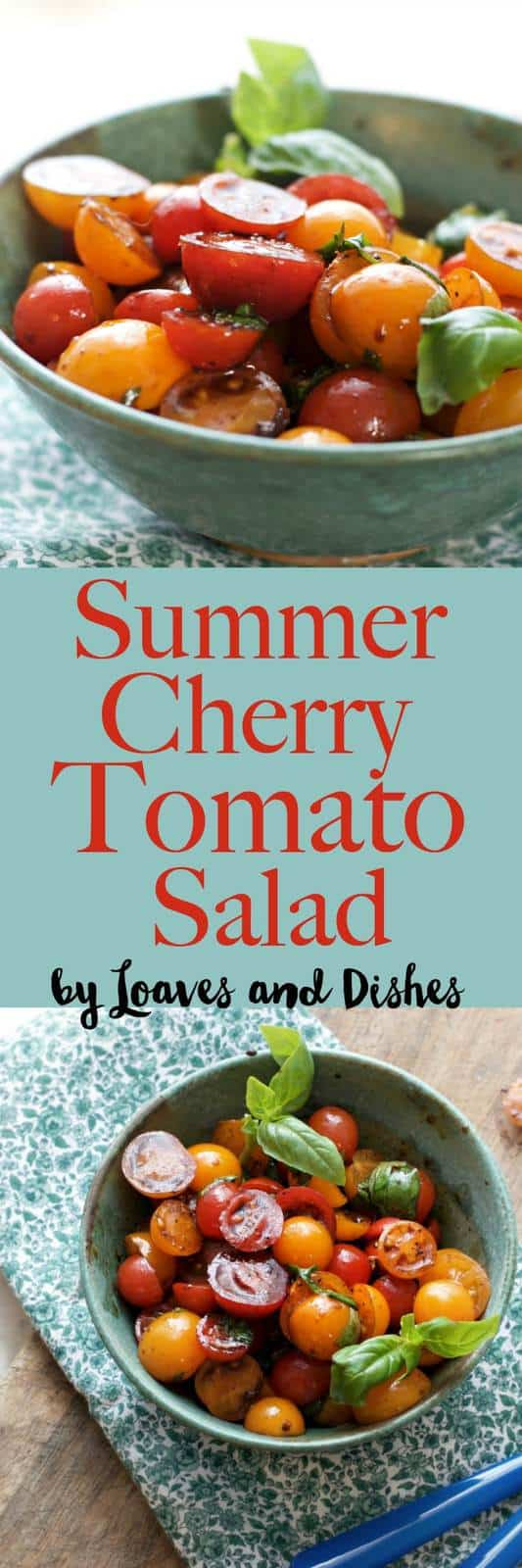 A healthy marinated summer salad using tomatoes, herbs and balsamic. You can add ingredients as you like - such as feta, goat cheese, black beans, cucumber, mozzarella. Similar to a Pioneer Woman dish. Wonderful!