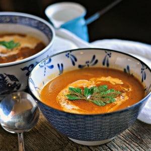 Pumpkin Cinnamon Soup Copycat www.loavesandishes.net