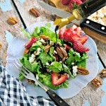 Strawberry Toasted Pecan and Goat Cheese Salad