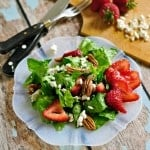 Strawberry Toasted Pecan and Goat Cheese Salad @loavesanddishes.net