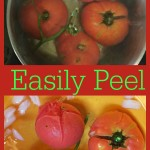 how to easily peel a tomato @loavesanddishes.net