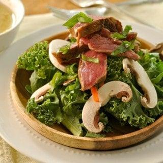 Korean BBQ Kale Salad @loavesanddishes.net