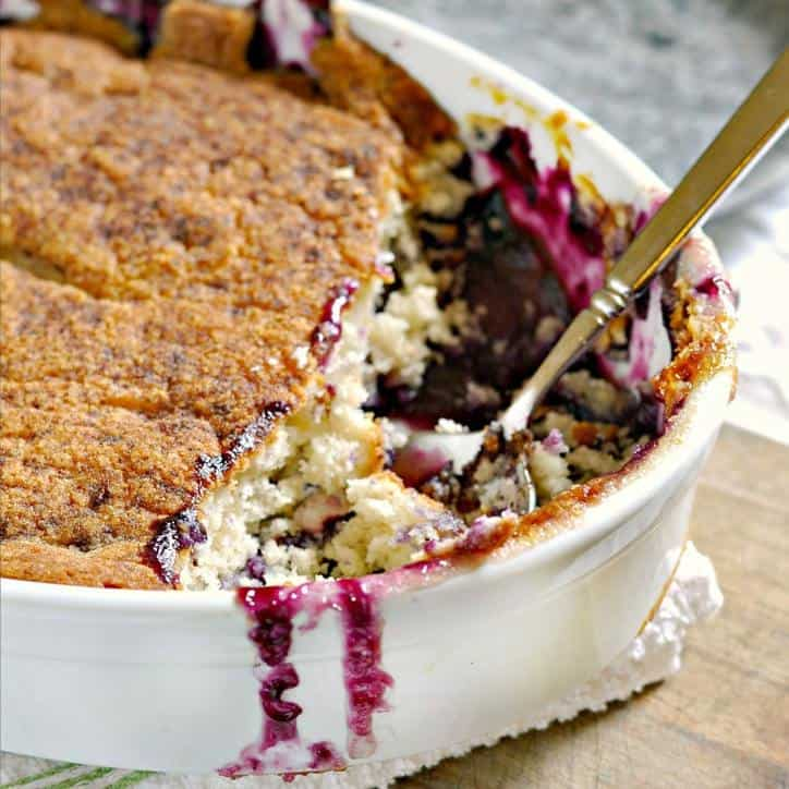 Peach Blueberry Cobbler @loavesanddishes.net