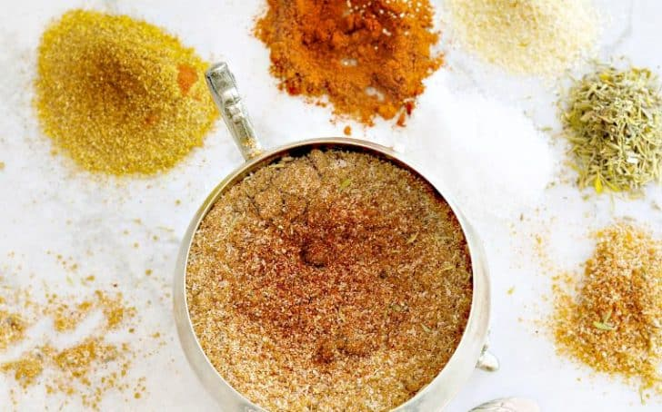 A photo of a bowl of dry spice rub for steaks