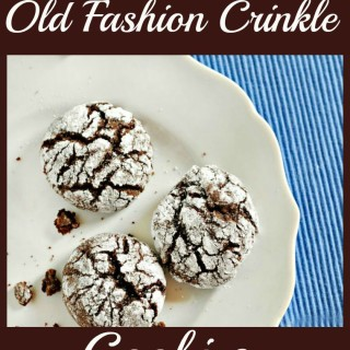 Old Fashion Crinkle Cookies @loavesanddishes.net
