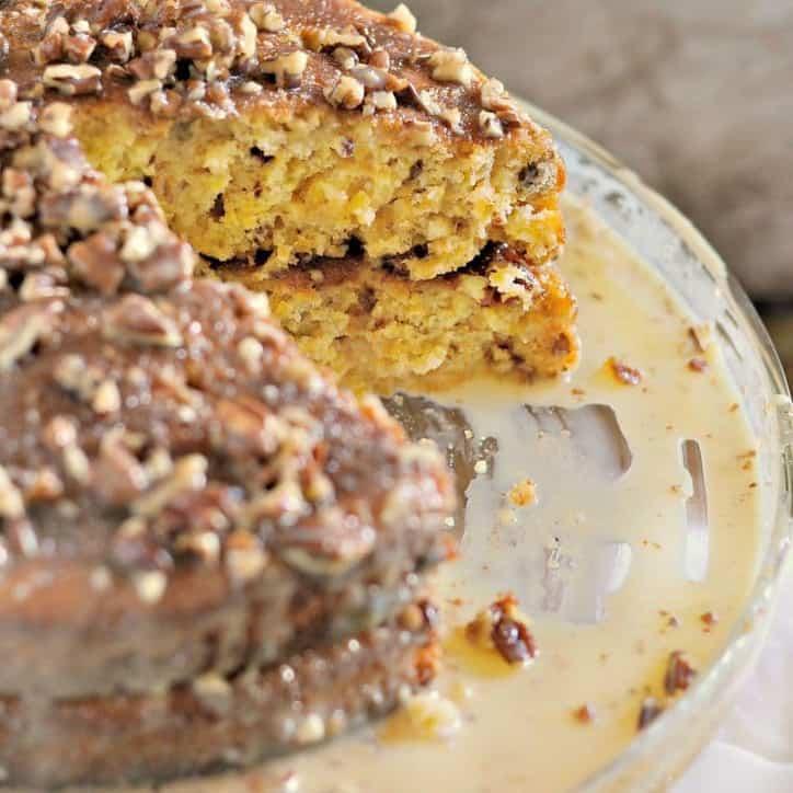 Pumpkin Praline Cake @loavesanddishes.net