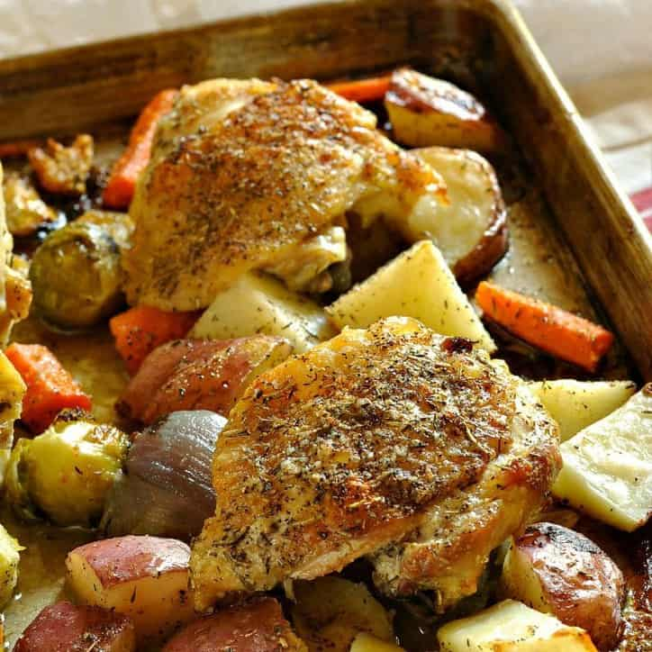 Roasted chicken and veggies @loavesanddishes.net