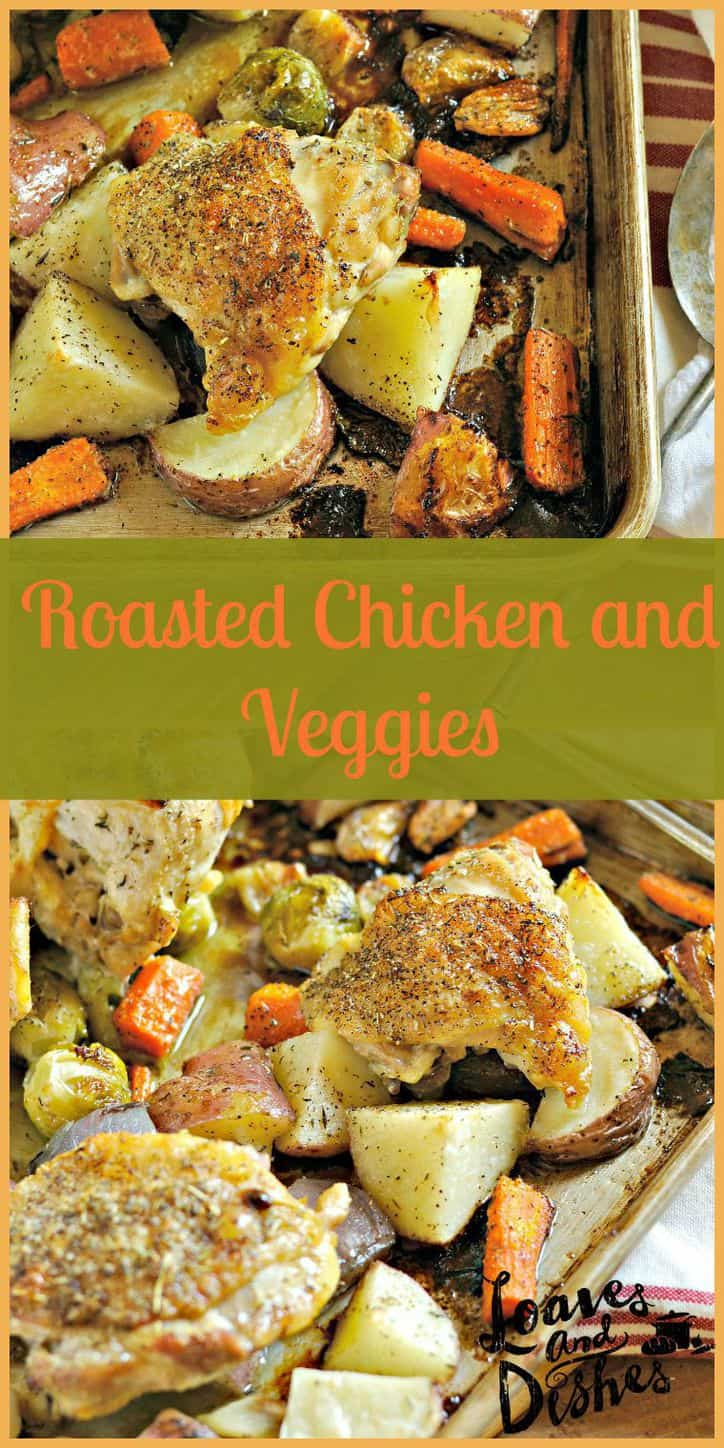 Want to only dirty one dish when making dinner? Easy? Ready in less than an hour? Delicious? This is it! Try Roasted Chicken and Veggies @loavesanddishes.net