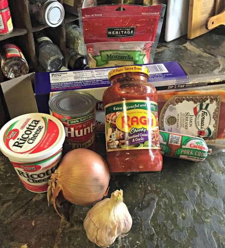Chorizo Mouth Party Lasagna @ www.loavesanddishes.net