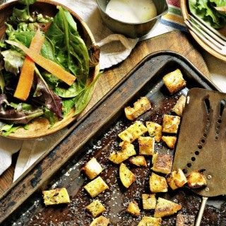 Italian Croutons from Scratch