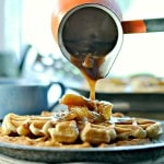 Apple Pecan Waffles with Apple Pecan Topping