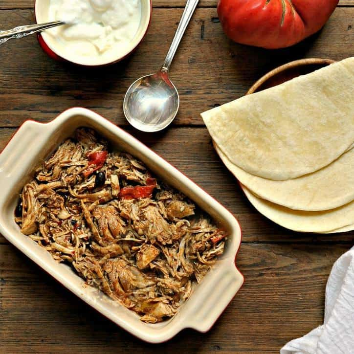 Crockpot Chicken Fajitas www.loavesanddishes.net