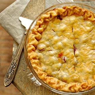Old Fashion Cranberry Orange Pie