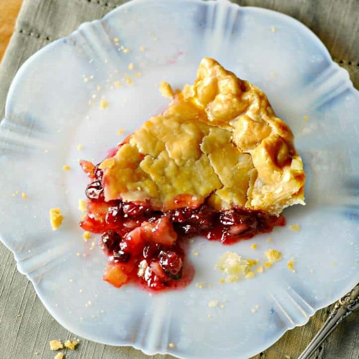Old Fashion Cranberry Orange Pie @www.loavesanddishes.net
