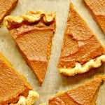 Pumpkin Pie with Pecan Drizzle