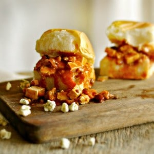 "Vegetarian Buffalo Sliders and some musings on ""the last time"" and Birds Eye Flavor Full @www.loavesanddishes.net"