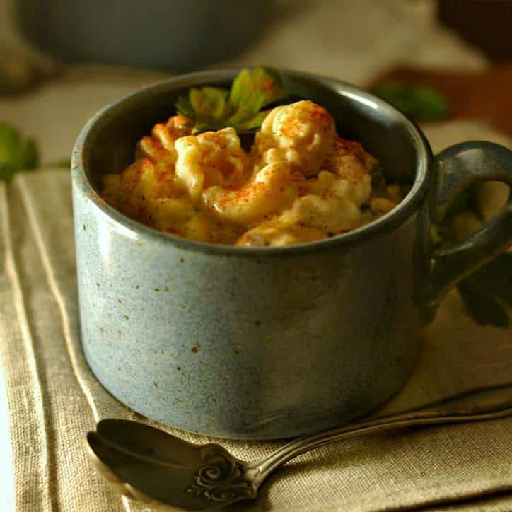Mac and Cheese Soup www.loavesanddishes.net