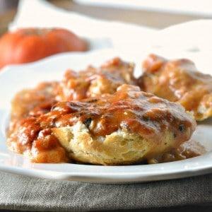 close up photo of Southern Tomato Gravy www.loavesanddishes.net