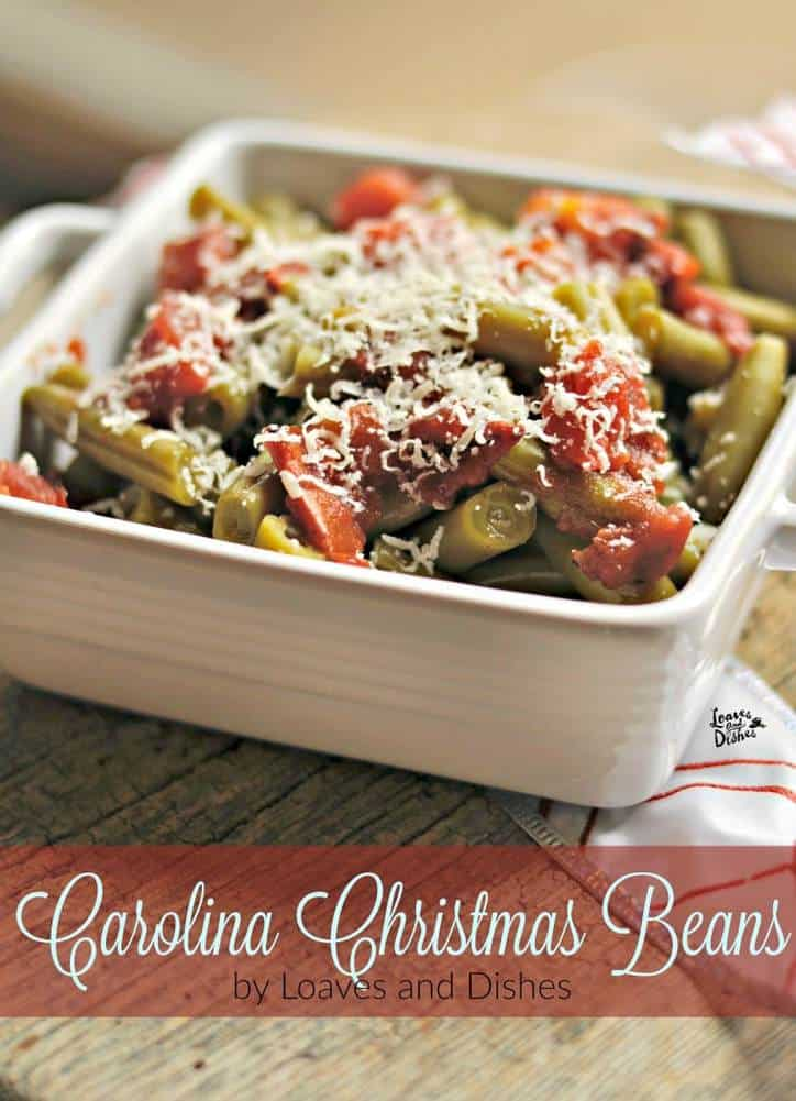 Carolina Christmas Beans www.loavesanddishes.net