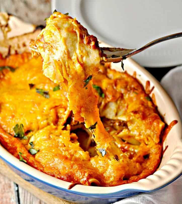 Cheesy Enchilada 1 (o) loavesanddishes.net